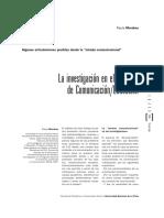 Paula Morabes - La Investigación en El Territorio de Comunicación-Educación