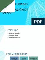 Generalidades Organización de Obras