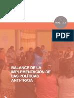 Bolivia_Balance Implementación Políticas Antitrata