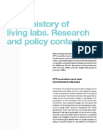 Short History of Living Labs- Research and Policy Context