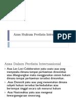 Azas Hukum Perdata Internasional