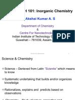 Lecture 1 - CH 101 - Inorganic Chemistry - Akshai Kumar