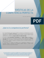 Características de La Competencia Perfecta