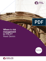 ITIL Where is Risk Management