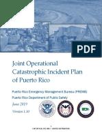 Plan Operacional Conjunto para Incidentes Catastróficos de Puerto Rico