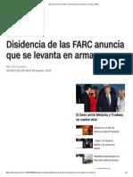 Disidencia de Las FARC Anuncia Que Se Levanta en Armas _ CNN