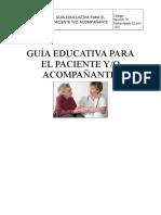 guia paciente y familia en seguridad del paciente