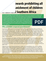 Progress Towards Prohibiting All Corporal Punishment of Children in East and Southern Africa (2016)