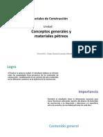 U1_Conceptos Generales y Materiales Pétreos