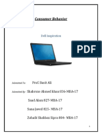 Consumer Behaviour Final Project ( DELL LAPTOP)