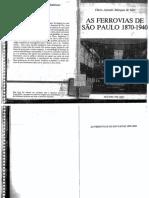 Flávio Azevedo Marques de Saes - As Ferrovias de São Paulo 1870-1940