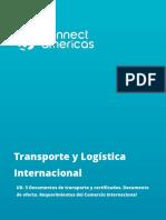 Documentos de transporte y certificados.  comercio exterior
