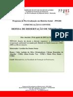 Defesa de Dissertacao Caroline Dos Santos Souza