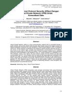 Metode Internet Protocol Security ( IPSec ) Dengan Virtual Private Network ( VPN ) Untuk Komunikasi Data