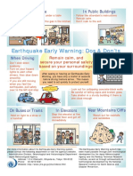 Earthquake Early Warning Dos & Donts