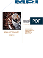 Microeconomics report on coffee product.