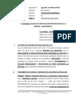 Recurso de Apelacion - Luis Miguel Camac Rojas