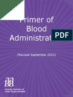 Primer of Blood Administration