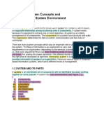 Chapter 1 (System Concepts and the Information System Environment)