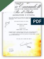 Decreto Di Capitano Del Re Imperatore Di Angelo Guerrera Guerrera
