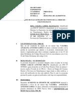 Demanda de Aumento de Alimentos 16 - Hija - La Merced - Rita Celina Lopez Mantalvo