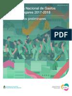 Resultados Preliminares Encuesta Nacional de Gastos de los Hogares 2017-2018