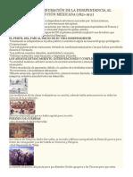 Bloque 3 de La Consumación de La Independencia Al Inicio de La Revolución Mexicana
