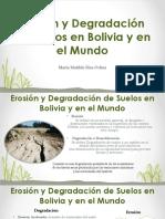 Erosión y Degradación de Suelos en Bolivia