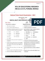 Qp_ Punjab Ntse Stage 1 2017-18 (Mat_lang_sat)