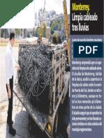 27-08-19 Monterrey. Limpia cableado tras lluvias