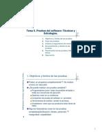 T05 Pruebas Del Software Técnicas y Estrategias