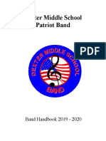 dexter middle school band handbook