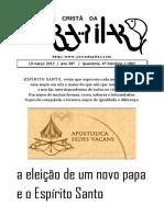 13-03-10_saida 1802 - A Eleição de Um Novo Papa e o Espírito Santo