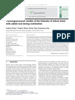 Thermogravimetric Studies of the Behavior of Wheat Straw