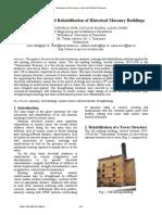 Risk Assessment and Rehabilitation of Historical Masonry Risk Assessment