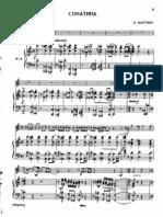 Martinu - Sonatina (Trumpet, Piano)
