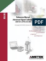 Ametek Jofra ASC300 Signal Calibrator Reference Manual