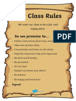 Editable Class Rules Scroll Poster Ver 3