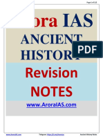 Ancient indian history upsc revision notes