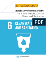 UN-Water SDG6 Synthesis Report 2018 Executive Summary ENG