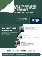 17 - Reunión Con Trabajadores y Empleadores en El Estado de Guerrero, Sobre La Reforma Laboral Cono La Mtra. Luisa María Alcalde Lujan, Secretaria Del Trabajo en México.