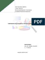 Componentes Que Integran El Proyecto de Investigación