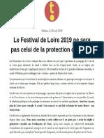 Communiqué Tous Orléans - pompage de Loire