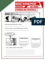 Ejercicios de Conectores de Texto Para Cuarto de Secundaria (1)