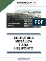 Estrutura metálica heliponto