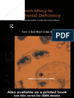 David Wright - From Idiocy to Mental Deficiency_ Historical Perspectives on People With Learning Disabilities (Studies in the Social History of Medicine) (1996)