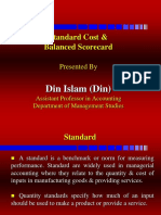 Standerd cost and balance
