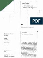 Searle - La revolución de Chomsky en lingüística