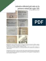 La industria industria editorial privada en la primera mitad del siglo XX