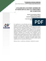 Análisis de los indicadores de ecoeficiencia de una industria de cementos